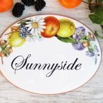 Floral Decor House Name Sign