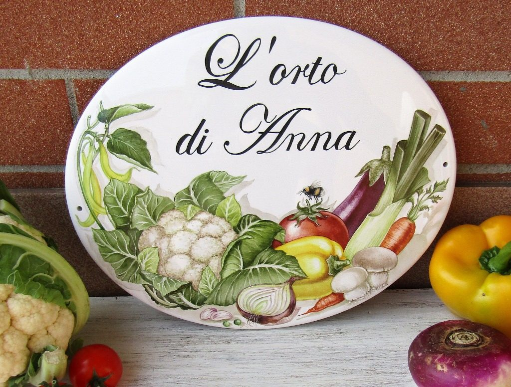 vegetable garden custom sign