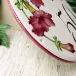 edge od burgundy petunia custom house number plaque