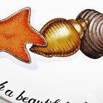 Custom hand painted shell decoration pattern