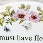 floral patterns on custom garden sign
