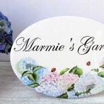 Hydrangea Custom Garden Sign