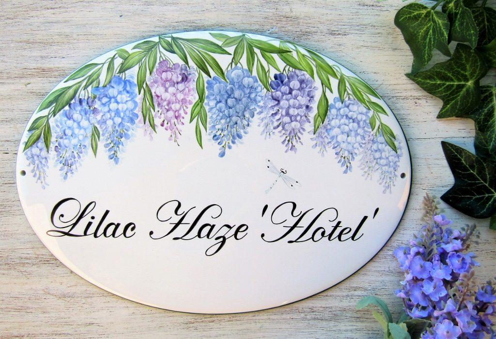 wisteria custom house sign