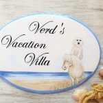 personalized pet portrait house name sign