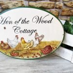 Hand painted Custom decor rustic cottage sign