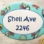 Beach House Street Address Sign